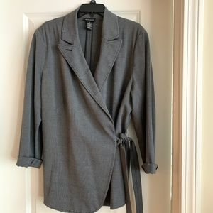 Lane Bryant side tie jacket size 16
